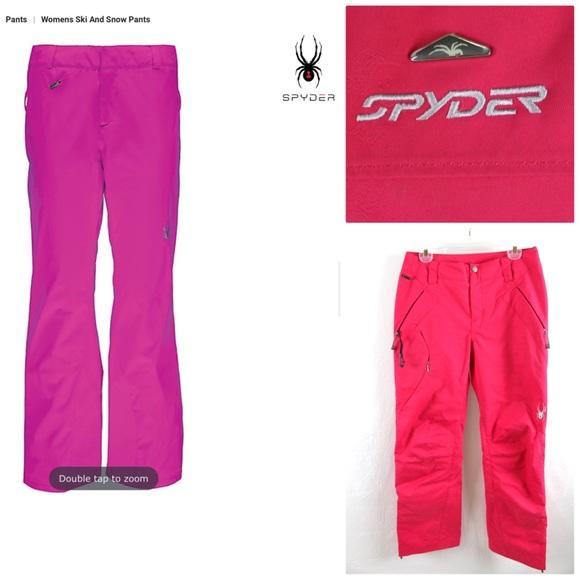 d80e8dca221 Spyder Thinsulate Bryte Pink Ski Pants Size 10